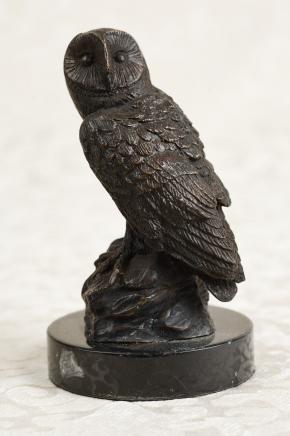 La fonte de bronze Barn Owl Oiseaux Tawny Owls