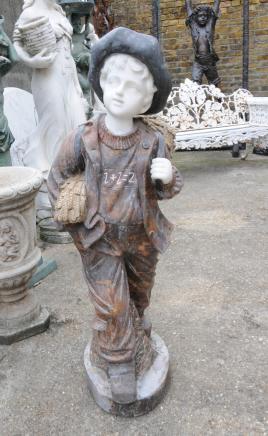 Main marbre sculpté Statue de jardin Boy anglais