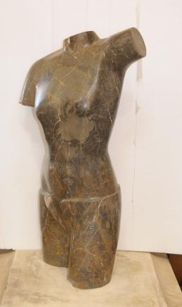 Marbre italien main sculpté Torse Figurine