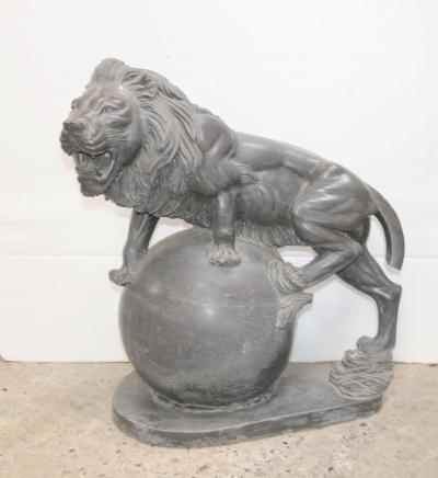 Marbre sculpté Lion Lions Gatekeeper Chats