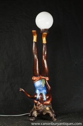 Nouvelle-Orléans Burlesque Figurine Bronze Lampe Statue Erotic Art Kitsch