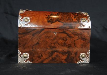 Noyer Bijoux victorienne Parfum Box Case