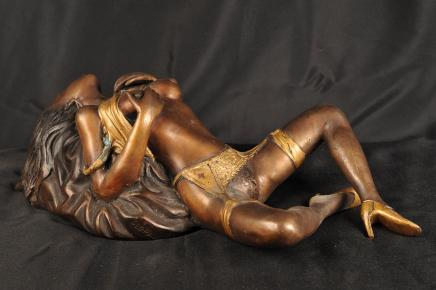 Nu Bronze Porno Fille Figurine Erotic Art Figurine