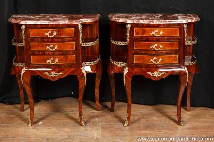 paire empire chevet commode tiroirs de chevet dessus en marbre table. Black Bedroom Furniture Sets. Home Design Ideas
