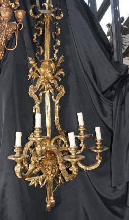 Paire architectural français Empire Appliques Ormolu Bronze