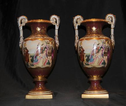 Paire de Sèvres en porcelaine classique Campana Urnes