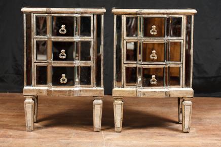 Paire de chevet Miroir Deco miroir de chevet Commodes Meubles