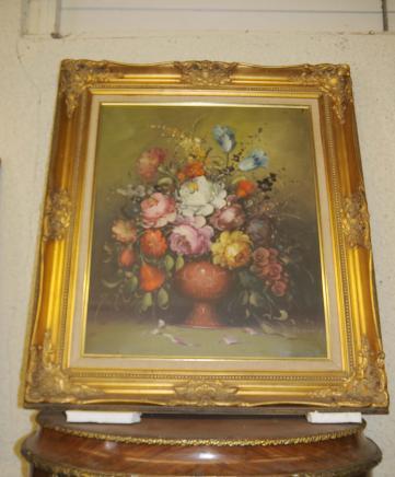Peinture à l'huile Français Floral Still Fleurs de vie