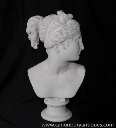 Pierre italien Buste Vénus grecque Mythe Sculputure Carving