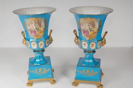 Porcelaine de Limoges Campana urnes Poterie français