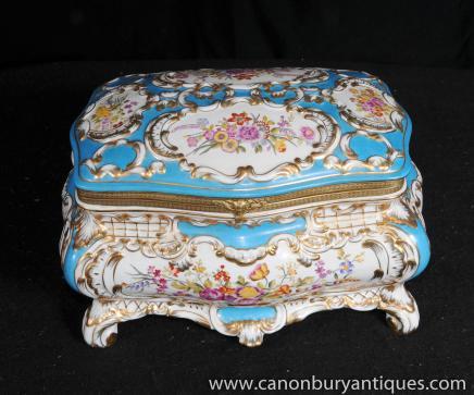 Porcelaine de Sèvres Floral Spalsh Bijou Coffret Coffret à bijoux
