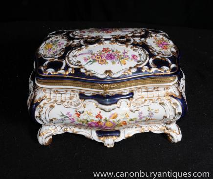 Porcelaine de Sèvres Gerbe Coffret à bijoux Coffret Poterie