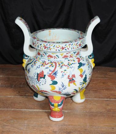 Porcelaine japonaise Koro Burner bouddhiste encens bouddhisme Bowl Vase Chaudron