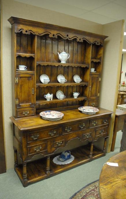 Rack Ferme Chêne Welsh Dresser Armoires de cuisine