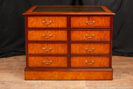 Regency Noyer Classeur poitrine tiroirs de meubles de bureau