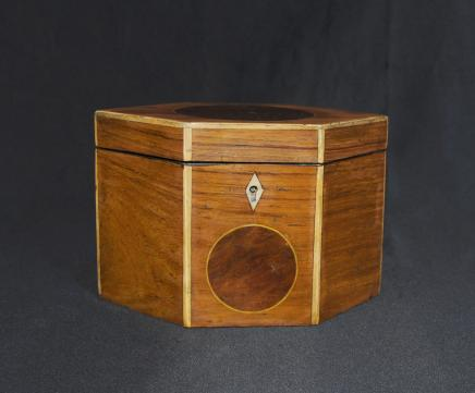 Regency Tea Caddy Inlay Losange Caddies Box