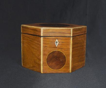Regency Tea Caddy Inlay Losange Caddies Box