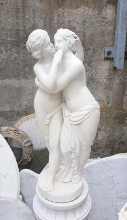 Roman Sapphist semi Femme nue Lovers Statue