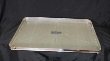 Silver Plate Galuchat Butlers Tray Plateau