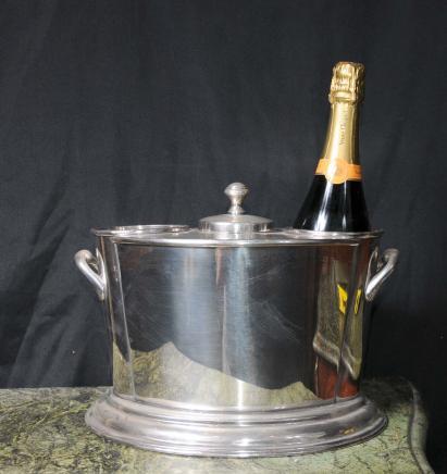 Silver Plate Vin Champagne Seau