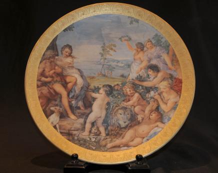 Simple Plate Paris Sèvres Chérubin Chérubin Putti