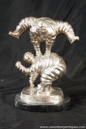 Statues paire Bronze Bibendum Bibendum coulée Figurine