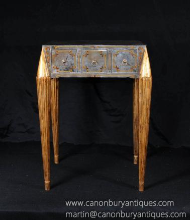Tableau vénitien miroir en verre côté italien Tables basses