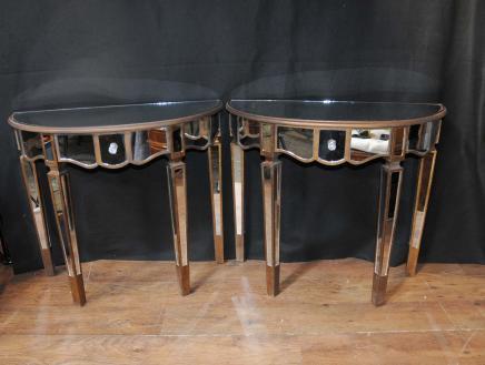 Tables paire de console Miroir Miroir Salle tableaux déco Meubles