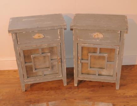 Tables paire miroir côtière tables de chevet Commodes