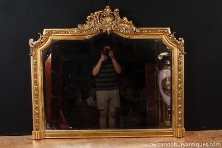 Victorienne doré Manteau verre miroir Miroirs