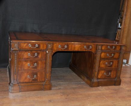 Victorienne en acajou bureau Bureaux Table Antique Meubles