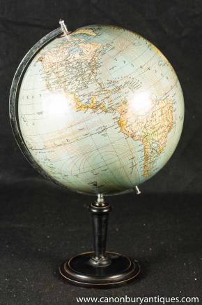 Vintage suédois Globe Carte du monde sur le stand