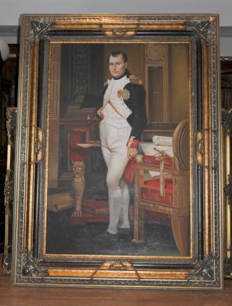XL Peinture à l'huile Napoléon Bonaparte français leader militaire empereur