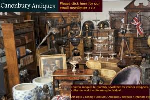 Se il vous plaît vous inscrire à la newsletter de Canonbury Antiques
