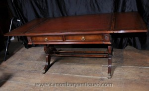 Acajou Regency Coffee Table Tables Extension bureau