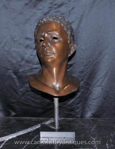 Buste en bronze philosophe grec Aristote anciens philosophes Masque
