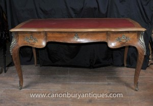 Français Antique Bureau Plat bureau Empire Table d'écriture