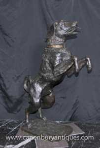 Grand Bronze Labrador Statue Dog Chiens Animaux Lab