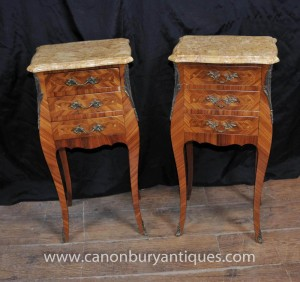 Paire Empire Antique chevet chevet Commodes Tables Tiroirs