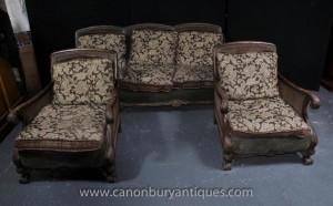 Président français antique Bergère Canapé Arm Suite Couch Chaises Canapé