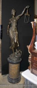 XL Lifesize français Bronze Lady Justice Scales Statue Figurine