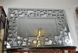 Art Déco verre Mantle Mirror Miroirs Paysage Portrait