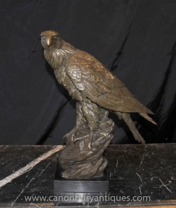 Bronze Golden Eagle Statue Oiseaux Oiseau Prey Castings