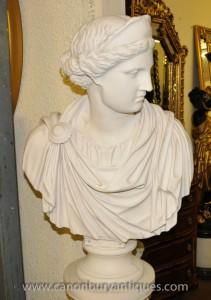 Buste en résine de marbre grecque Athéna Statue Déesse