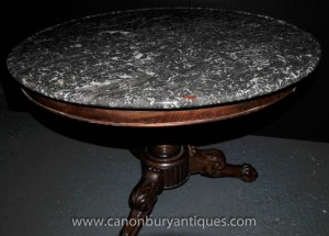 Centre ronde française Antique Guéridon Table 1830 Empire Table