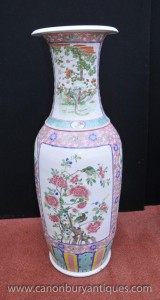 Chinese Tall porcelaine de Jingdezhen Urne Ming Vases en céramique Chine