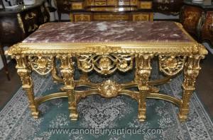 Français Louis XV Gilt table console Tables Salle baroque
