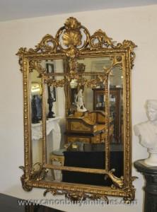 Français Louis XV Rococo Mirror miroirs dorés