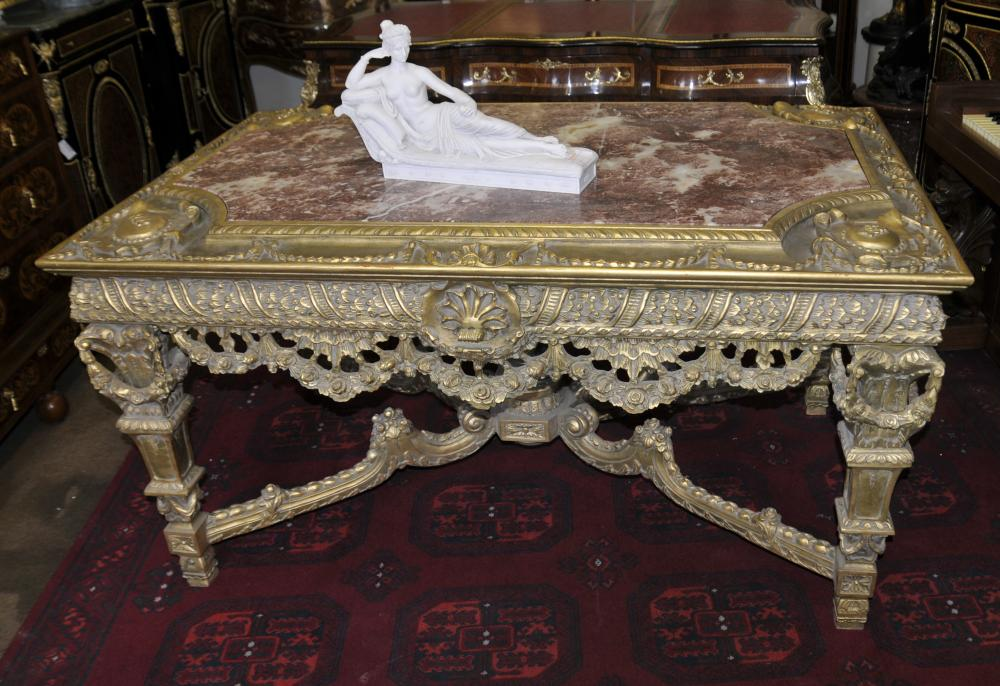 George II Gilt Table console main marbre sculpté de base Meilleures Tables