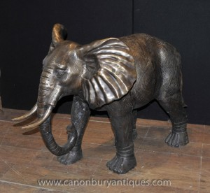 Grand Elephant Statue Bronze Architectural Jardin Art